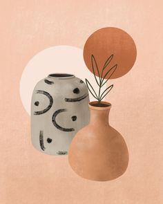 Illustration Art Print Bohemian Home Decor Wall Art by Deniz Sipahi Studio