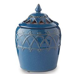 Moroccan Crock with Lid Decorative Jar Warmer