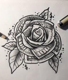 Rose Drawing Discover you determine your fair price! Poste under this post your you determine your fair price! Poste under this post Gangsta Tattoos, Chicano Tattoos, Dope Tattoos, Badass Tattoos, Body Art Tattoos, Hand Tattoos, Tattoos For Guys, Tattos, Irezumi Tattoos