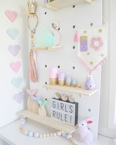How cute are these pastel babushka dolls by @harperslittlelane They fit in perfectly with Kiani's room! . #girlsroom #girlsbedroom #girlsbedroominspo #girlsroominspo #girlsdecor #childrensdecor #kidsdecor #girlyroom #girlsroomstyling #girlsroomdesign #girlsinteriors #kidsinteriordesign #kidsdecoration #decorforkids #pastel #kmartaus #kmartstyling #kmartdecor #supporthandmade #mint #pink #lavender #kidsroomdesign #kidsroomstyle #woodendecor #walldecor #barnrum #barnrumsinspo #pegboar...