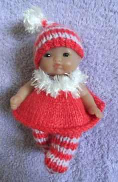 """Hand Knitted Clothes for Berenguer, Ooak Doll, 3.5""""-4""""; 5""""; 6.5""""-7""""; 8"""" (#230) 