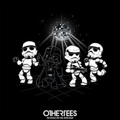 """Disco Dark Side"" by Dooomcat T-shirts, Tank Tops, Sweatshirts and Hoodies are on sale until 5th December at www.OtherTees.com Pin it for a chance at a FREE TEE #starwars #vader #lordvader #othertees"