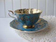 gorgeous! Vintage Royal Albert Empress Series Bone China from jenscloset on etsy