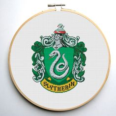 Slytherin Crest - Harry Potter Cross stitch pattern PDF Instant Download