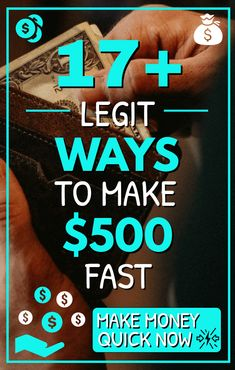 Are you looking for ways to make money fast? In a pinch to earn cash quick? Whether you're tight on bills or just want to save more money, there are some easy and real ways to make money fast from home, online, on your phone or around the city. Here are 17+ great ways to help you make $500 (or much more) fast! #makemoney #makemoneyonline #makemoneyfromhome #DIYjobs #sidehustle #personalfinance
