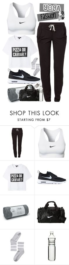 """Yoga Fashion"" by dany-lol ❤ liked on Polyvore featuring Reebok, NIKE, DKNY, Equa, Monki, Sagaform, Hudson Jeans and SHAN"