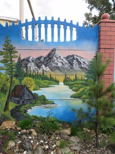 painted fence -  Сад-парк скульптура -