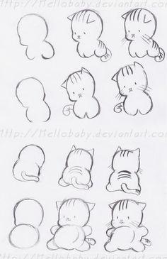 Cute Turtle Drawings, Cute Drawings Of People, Small Drawings, Cute Kawaii Drawings, Easy Drawings, Disney Sketches, Disney Drawings, Cartoon Drawings, Animal Drawings