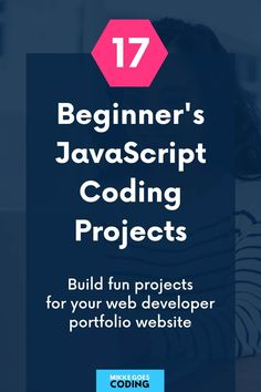 Are you looking for fun JavaScript projects for beginners to practice your coding skills? Use these programming project ideas and tutorials to build your first front end web development projects for your portfolio website and learn the basics of how to plan, manage, and build JS gigs with real-world examples. If you want to start a career in web design, these ideas are great practice for interview questions, too! #javascript #coding #programming #webdevelopment #mikkegoes #tech #learntocode Learning Web, Learning Resources, Web Developer Portfolio, Learn Coding Online, Coding For Beginners, Web Development Projects, Basic Website, Best Online Courses, Web Development