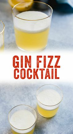 Classic Gin Fizz Cocktail (The Best!) – A Couple Cooks Looking for the best gin cocktail recipe? Try a refreshing Gin Fizz: it's sweet, tangy, and has a frothy egg white foam topping. Gin Fizz Cocktail, Best Gin Cocktails, Gin Cocktail Recipes, White Cocktails, Cocktail Drinks, Cocktail Book, Cocktail Parties, Balanced Vegetarian Diet, Gin Lemon