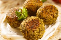 """Baked Falafel - """"Use all chickpeas if you don't have fava beans. If you use canned beans, omit the salt to cut down on sodium. Vegan Vegetarian, Vegetarian Recipes, Cooking Recipes, Healthy Recipes, Vegan Meals, Free Recipes, Baked Falafel, Falafel Recipe, Olive Recipes"""