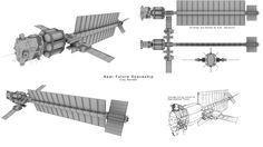 Near Future Spaceship CR1 by Mallacore.deviantart.com on @DeviantArt