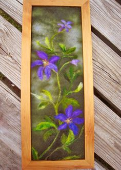 Needle Felted  Wall Hanging by sweetnola