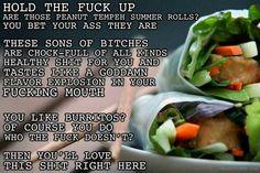 Thug Kitchen Peanut Tempeh Rolls