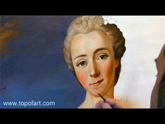 Art Reproduction (Nattier - Portrait of a Lady) Hand-Painted Step by Step - YouTube