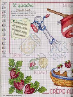 ru & Фото - Frutas e verduras - 123 Cross Stitch, Cross Stitch Boards, Cross Stitch Kitchen, Cross Stitch Flowers, Cross Stitch Designs, Cross Stitch Patterns, Cross Stitching, Cross Stitch Embroidery, Cross Stitch Magazines