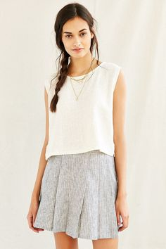 Mixed Business Classic Cropped Top