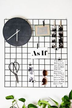 DIY metal wall grid display