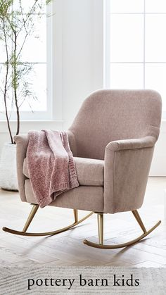 Rock-a-bye baby in this stylish, plush velvet chair. It's perfect for staying comfy and bonding with baby during all-day feedings. A variety of neutral hues complement any nursery decor, creating a sweet sanctuary for you and baby.