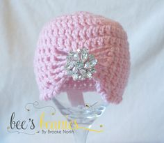 Newborn Crochet Fashion Hat or Photography Prop by Bee's Beanies