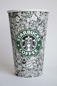 Designer Johanna Basford uses Starbucks coffee cups as her blank canvas and does amazing artwork on them. Her gallery of work is fun to look at--Starbucks should take note!