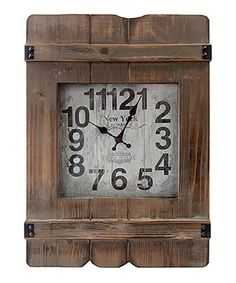 Loving this Rectangle Weathered Wall Clock on #zulily! #zulilyfinds
