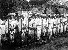 Rebel soldiers who fought in the Philippine-American War which began in 1890 and officially ended two years later, although guerilla warefare continued until Philippines, South East Asia, date unknown. (Photo by Fotosearch/Getty Images). Philippine Army, The Spanish American War, American History, Boxer Rebellion, Insurgent, Military History, Southeast Asia, Poster Prints, Canvas Prints