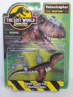 1996 Jurassic Park Lost World Movie Action Figure Velociraptor Raptor Sealed MOC