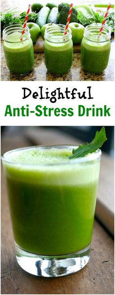 Anti-Stress Drink to Leave You Feeling Mellow and Relaxed Healthy Smoothies, Healthy Drinks, Healthy Recipes, Healthy Foods, Healthy Dinners, Drink Recipes, Herbal Remedies, Natural Remedies, Healthy Habits