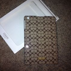 Authentic Coach iPad mini hard case shell- new! Authentic Coach iPad Mini hard shell case- new in box- Box isn't perfect- was purchased that way from TJ Maxx- retails for $78!! Coach Accessories Tablet Cases