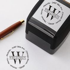 This self-inking Address Stamper is perfect for Wedding invitations, save the dates and thank you notes and will help save a ton of money (it's only $24.95!)! It makes your mail look so elegant! Great gift idea for a bridal shower, wedding or new homeowners. #wedding #stamp #invites #PMall.com