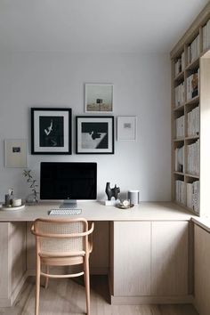 Home Office Design, Home Office Decor, Home Decor, Office Ideas, Small Office Decor, Small Office Design, Scandinavian Office, Small Space Office, California Closets