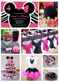Minnie Mouse inspiration board... love the chairs & birthday girls outfit.