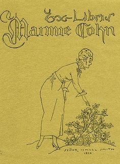 Bookplate by Ismael Smith for Maimie Cohn,1920