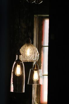 vintage inspired pendant lamp with wire & glass shade, only $85 at WestEnd