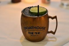 Moscow Mule at the Boathouse Restaurant at Disney Springs / Walt Disney World Resort - Florida. - Click to read this great article from the TouringPlans Blog.  Learn how you can get a free TouringPlans subscription from http://www.buildabettermousetrip.com/free-touring-plans
