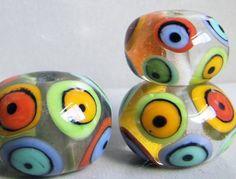 Mod Spot BallsHandmade Lampwork Beads by beadygirlbeads on Etsy, $40.00