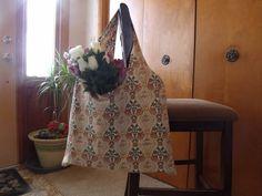Reduced Priced Beige with Orange Flowers by Tinastreasureisland, $7.00
