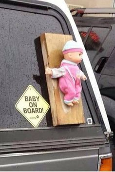 OMG - dress as a baby, wear a cardboard on back, with sign, Baby on Board!