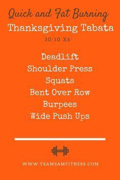 A Thanksgiving Tabata Workout www.teamsamfitnes...