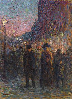 Maximilien Luce - Paris, Les Boulevards, La Nuit (1893)