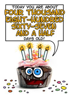 Happy birthday - 13 years old Greeting Card