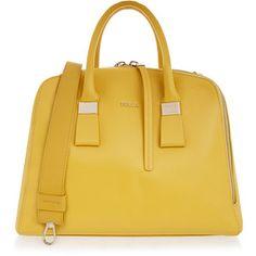 Furla Twiggy Saffron Yellow Medium Dome Bag