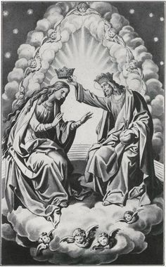 The coronation of Mary in Heaven.
