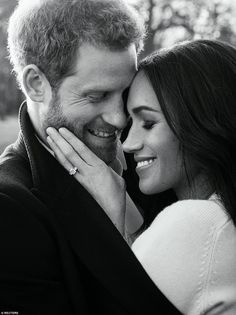 Prince Harry and Meghan Markle have today released their official engagement portraits taken at Frogmore House, and they come as a strak contrast from those taken of Kate and William.