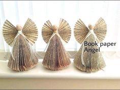 Book paper angel making tutorial