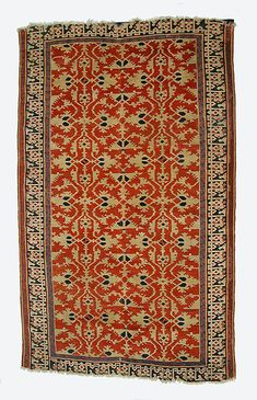 Lotto Carpet  Object Name:     Carpet Date:     16th century Geography:     Turkey Medium:     Wool (warp, weft and pile); symmetrically knotted pile Dimensions:     Rug: L. 85 1/2 in. (217.2 cm) W. 51 1/4 in. (130.2 cm) Wt. 19 lbs. (8.6 kg) with cradle Classification:     Textiles-Rugs