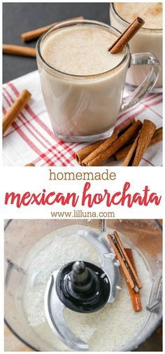 Mexican Horchata, Mexican Drinks, Mexican Dishes, Mexican Food Recipes, Dessert Recipes, Drink Recipes, Mexican Desserts, Dinner Recipes, Mexican Hot Chocolate