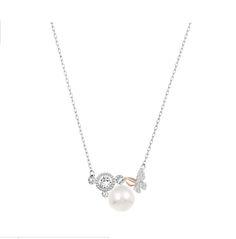 "Swarovski ""CUTE"" Necklace*  #Swarovski #Jewelry #Crystals #Pearls #Necklace #SpringSummer2015 #MarianaCarmona #JewelleryDesigner #2015 #Butterfly"
