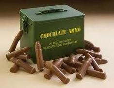 Chocolate ammo kit. DIY chocolate bullets..You May Have to Bite The Bullet This Time?